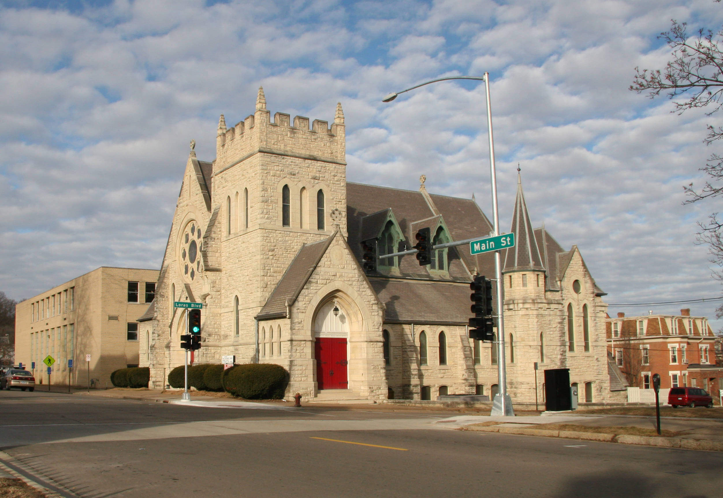Image of St John's Episcopal Church Building at 14th and Main St. Dubuque